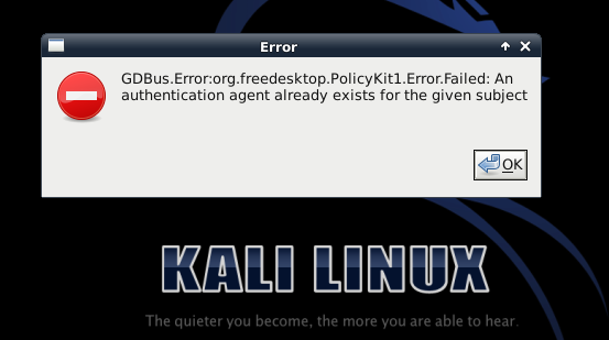 GDBus.Error:org.freedesktop.PolicyKit1.Error.Failed - blackMORE Ops