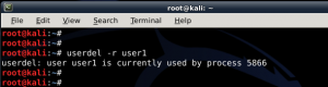 How to add remove user - Standard usernon-root - in Kali Linux - blackMORE Ops -13