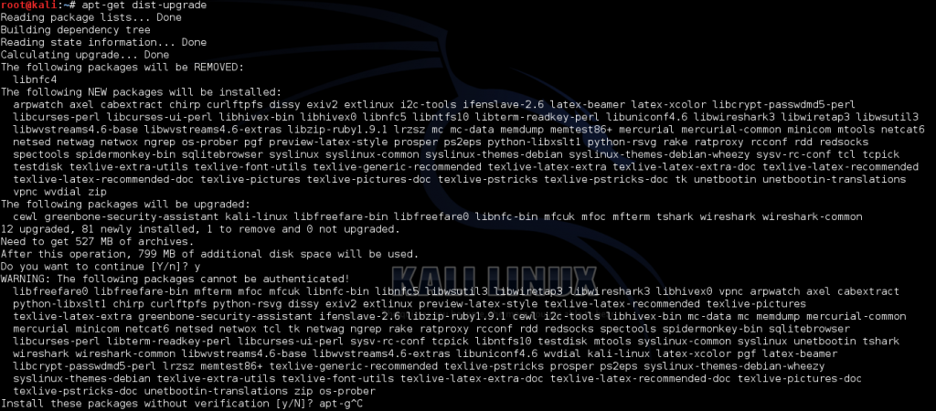 Fix WARNING The following packages cannot be authenticated! in Kali Linux - 1 - blackMORE Ops