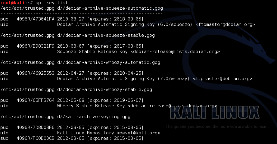 Fix WARNING The following packages cannot be authenticated! in Kali Linux - 2 - blackMORE Ops