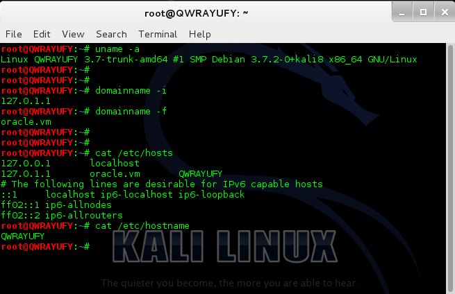 How to change hostname in Kali Linux - 20 - blackMORE Ops