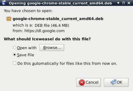 telecharger google chrome kali linux 64 bit