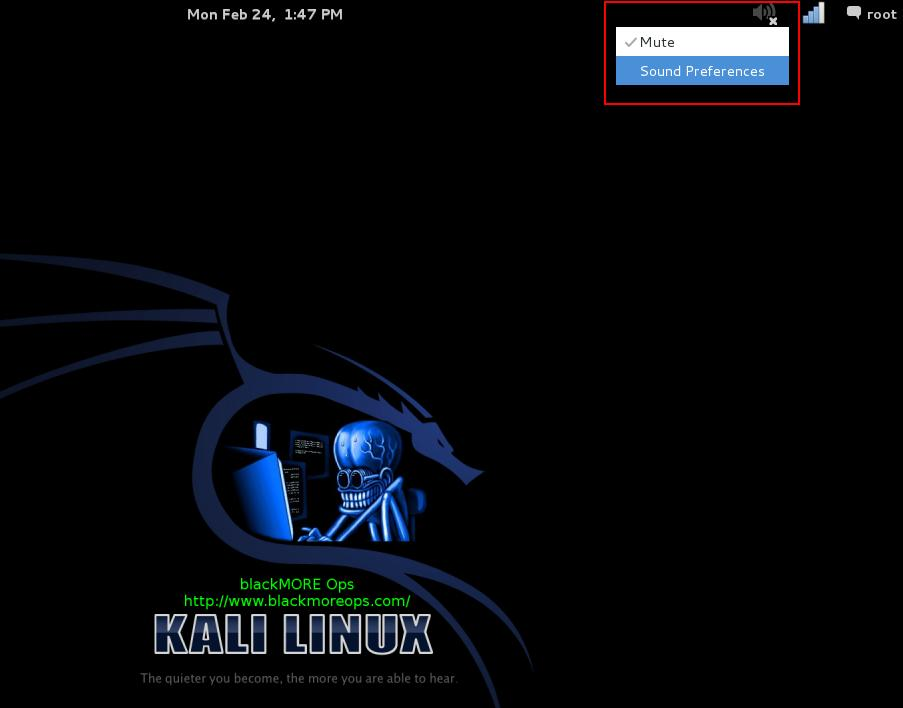 Fix sound mute in Kali Linux on boot - 1 - blackMORE Ops