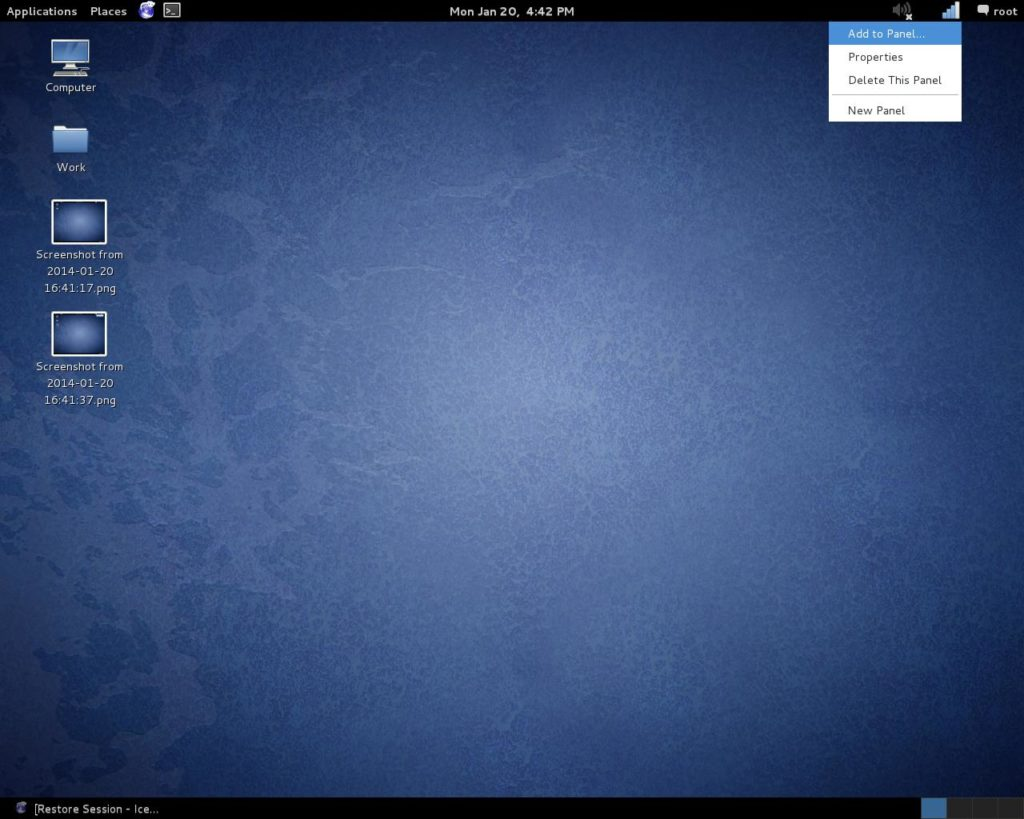 How to add remove an icon in Kali Linux from the top panel