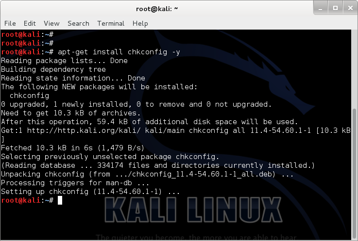 Install chkconfig package and link gdm3 with startx - Revert Kali Linux login to classic BackTrack command line login - 1 - blackMORE Ops