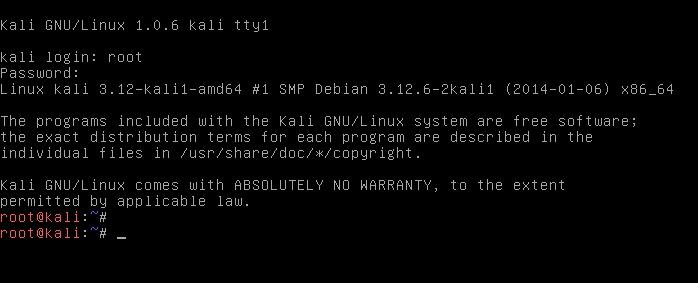 Revert Kali Linux login to classic BackTrack command line