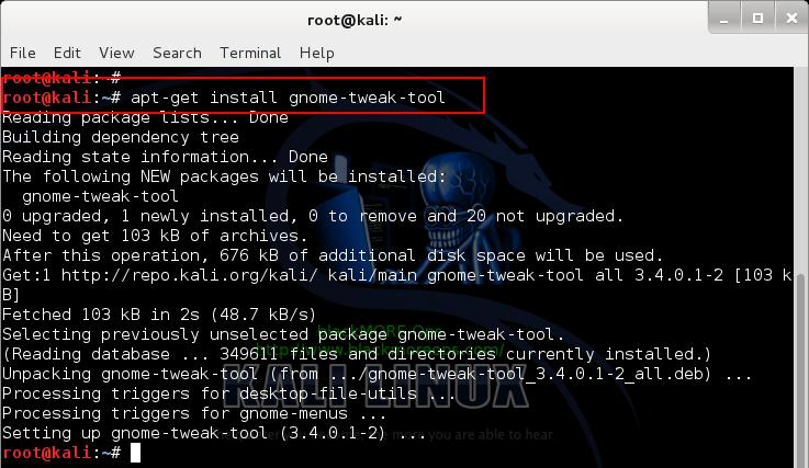 1 - Install Gnome Tweak Tool - Change Install Theme in Kali Linux - GTK 3 themes - blackMORE Ops