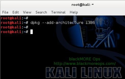1 - Install Skype in Kali Linux - dpkg --add-architecture i386 - blackMORE Ops
