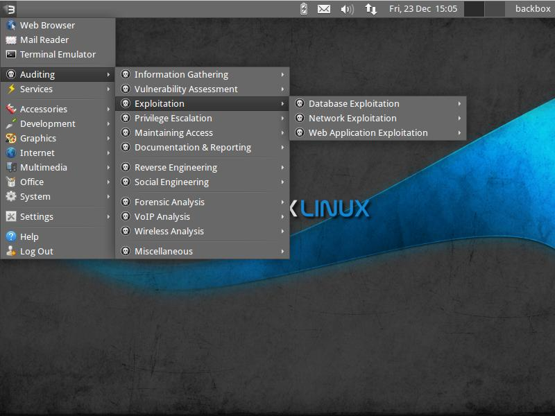 BackBox Linux - Notable Penetration Test Linux distributions of 2014 - blackMORE Ops