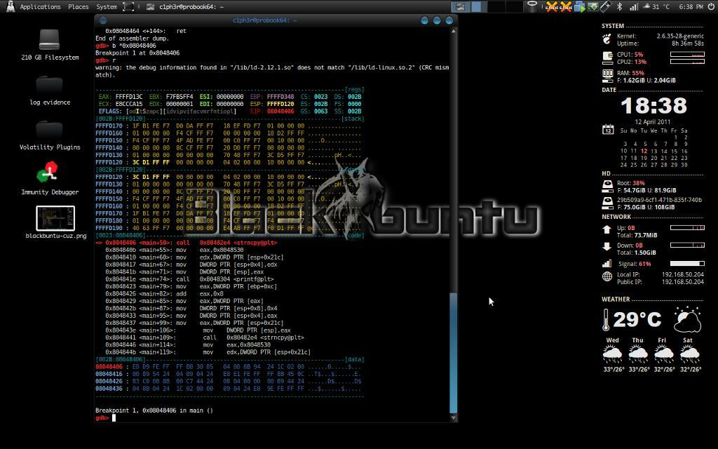Blackbuntu Linux - Notable Penetration Test Linux distributions of 2014 - blackMORE Ops