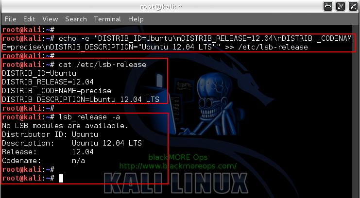 Kali Linux add PPA repository add-apt-repository - adding PPA Repository by modifying lsb_release details - 8 - blackMORE Ops