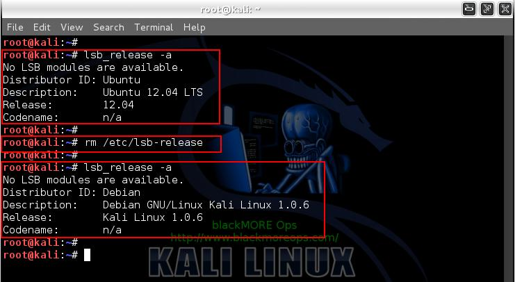 Kali Linux add PPA repository add-apt-repository - adding PPA Repository by rollback lsb_release details - 9 - blackMORE Ops
