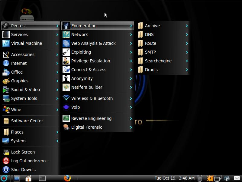 NodeZero Linux - Notable Penetration Test Linux distributions of 2014 - blackMORE Ops