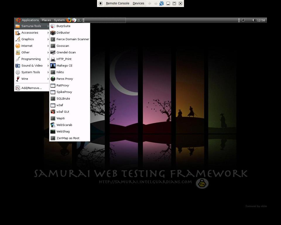 Samurai Web Testing Framework Linux - Notable Penetration Test Linux distributions of 2014 - blackMORE Ops