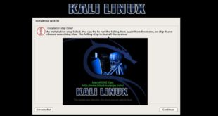 Error Message - 1 - Installation Step failed in Kali Linux - blackMORE Ops