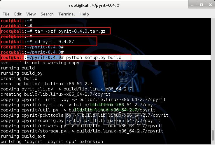 Extract and Build Pyrit - 4 - Install NVIDIA driver kernel Module CUDA and Pyrit on Kali Linux - blacKMORE Ops