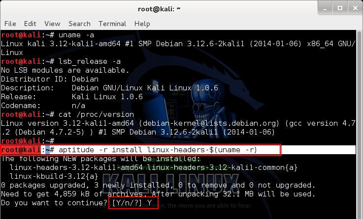 Install Linux Headers - 1 - Install proprietary NVIDIA driver on Kali Linux - blackMORE Ops