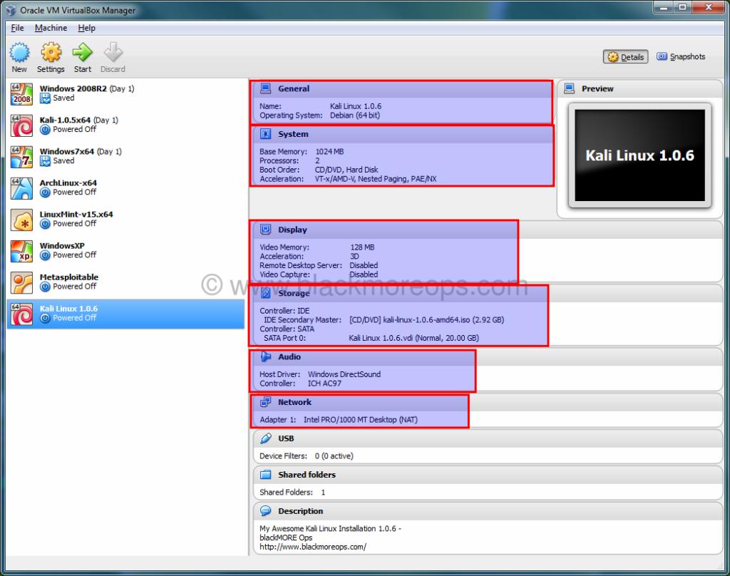install kali linux on usb using virtualbox