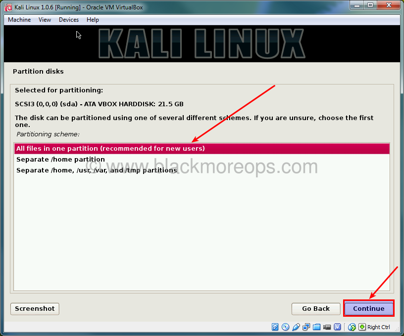 A detailed guide on installing Kali Linux on VirtualBox - blackMORE Ops - (33)