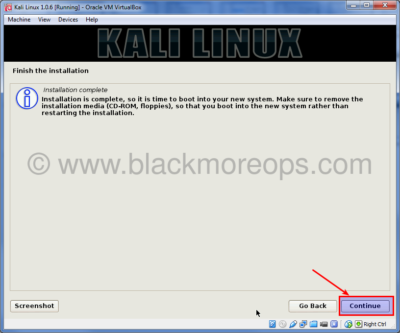 Kali Linux VirtualBOX Installation