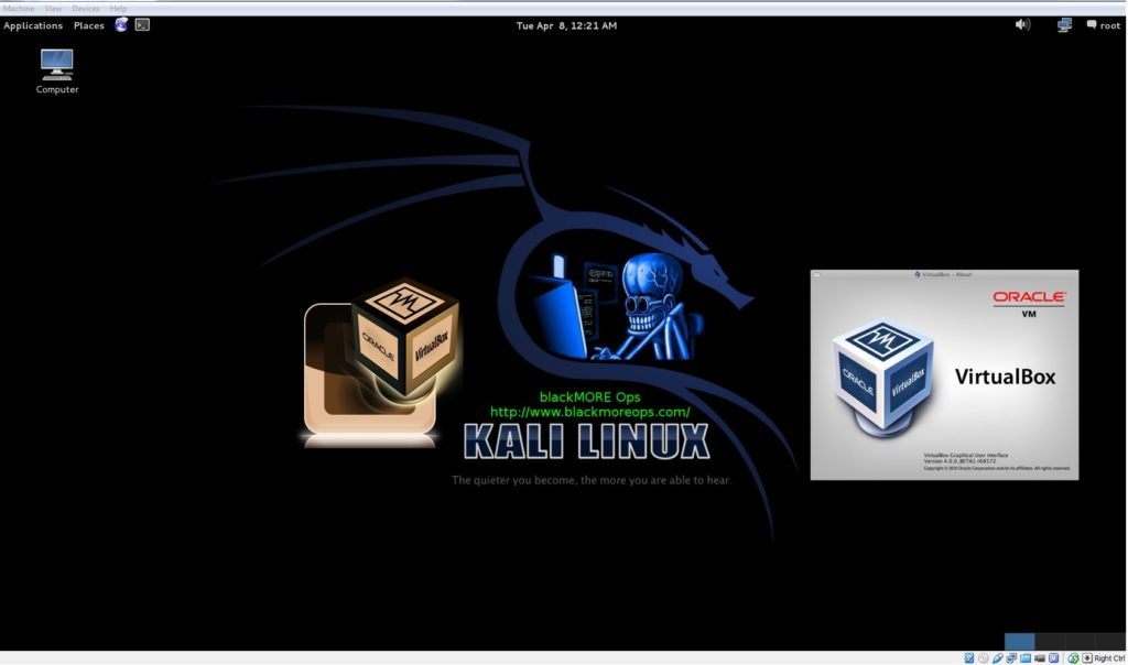 A detailed guide on installing Kali Linux on VirtualBox - blackMORE Ops