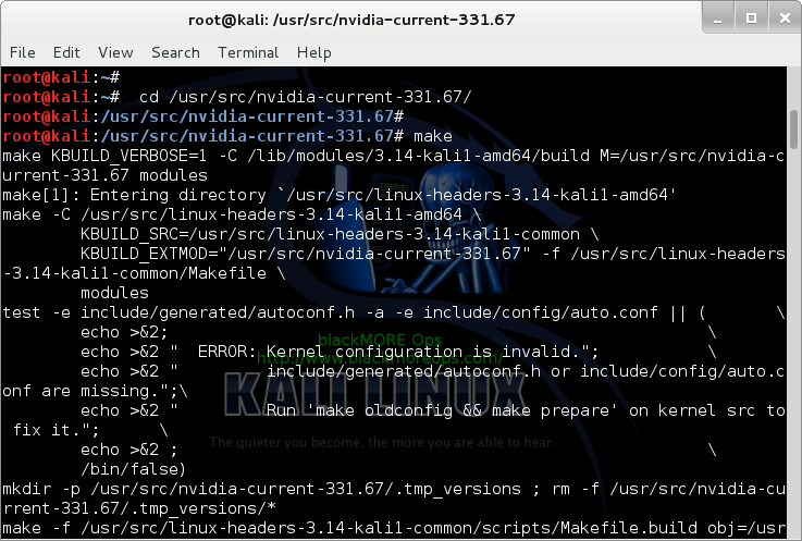 10 - Kali Linux 1.0.7 kernel 3.14 install NVIDIA driver kernel Module CUDA and Pyrit – CUDA, Pyrit and Cpyrit-cuda - copy NVIDIA driver to UVM folder