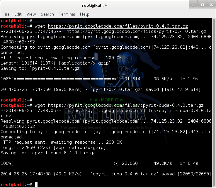 2 - Kali Linux 1.0.7 kernel 3.14 install NVIDIA driver kernel Module CUDA and Pyrit – CUDA, Pyrit and Cpyrit-cuda -download Pyrit and Cpyrit-Cuda