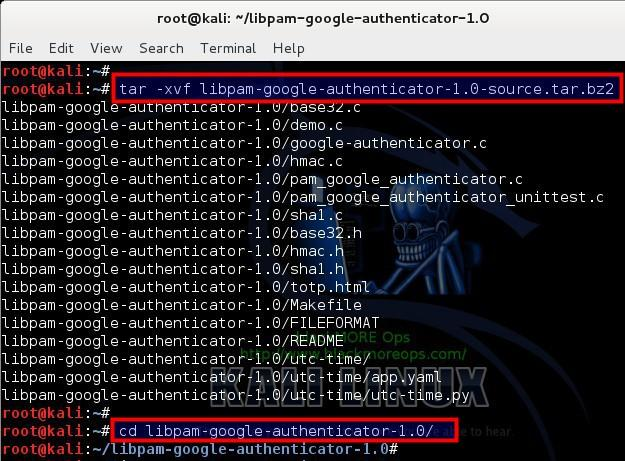 3 - Extract Google Authenticator PAM module from GoogleCode - blackMORE Ops
