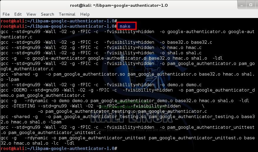 4 - Compile extracted Google Authenticator PAM module from GoogleCode - blackMORE Ops