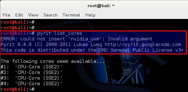 Kali Linux 1 0 7 kernel 3 14 install NVIDIA driver kernel