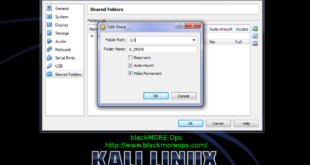 Correct way to install Virtualbox Guest Additions packages on Kali Linux and create shared folder - blackMORE Ops - 2