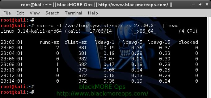 How to use sar for monitoring - sysstat sar examples and usage - blackMORE Ops - 14