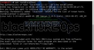 Kali Linux remote SSH - How to configure openSSH server - blackMORE Ops -7