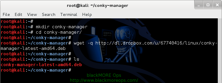 Download Conky-Manager using Wget