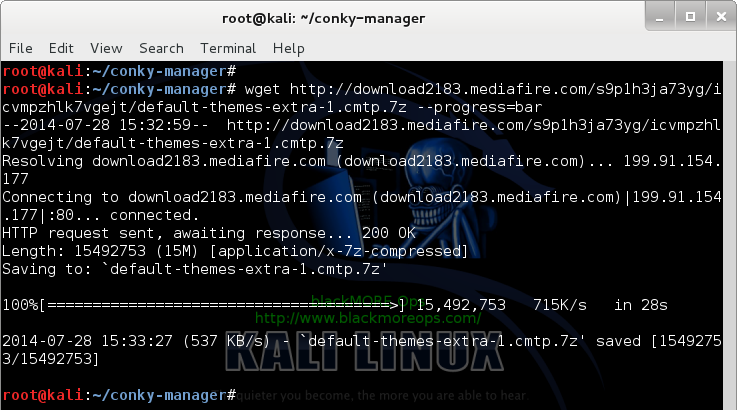 Download Conky-manager themes using wget - blackMORE Ops