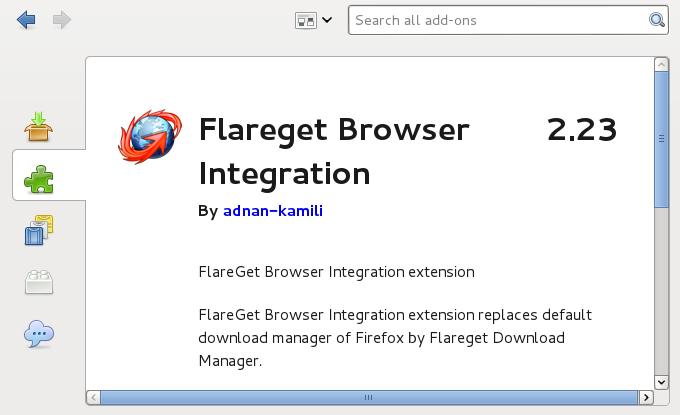 Flareget Mozilla IceWeasel Extension