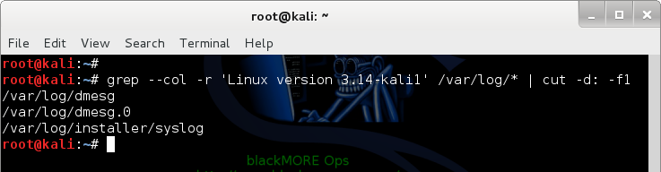 How to find files containing specific text in Linux? Find specific text and color code output with filenames only - 2 - blackMORE Ops