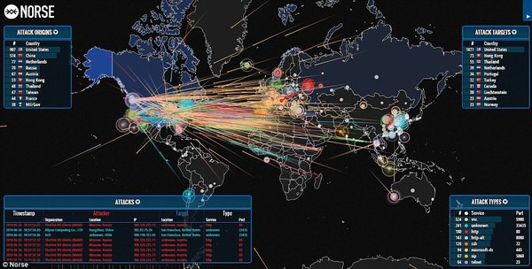 World Live DDOS attack maps – Live DDOS Monitoring - blackMORE Ops
