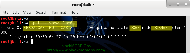 Connect to WiFi network in Linux from command line - Check device status- blackMORE Ops-2