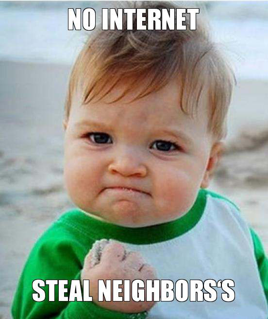 No Internet Steal Neighbors - BoooYaa - blackMORE Ops