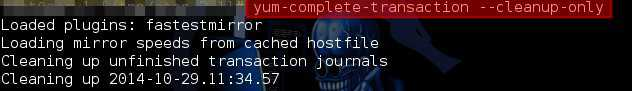Fixing There are unfinished transactions remaining. You might consider running yum-complete-transaction first to finish them in CentOS - blackMORE Ops - 3