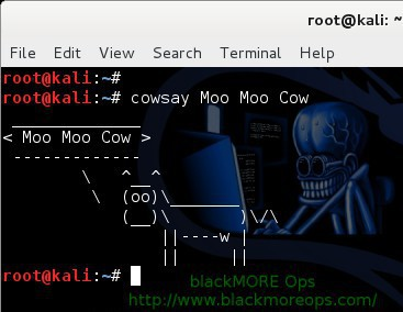 Random quotes and creatures using fortune and cowsay in