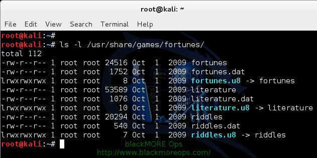 Random quotes and creatures using Fortune and Cowsay in Linux terminal - blackMORE Ops -3