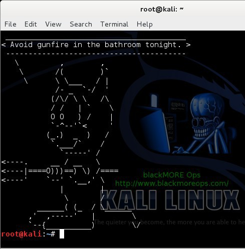 Random quotes and creatures using Fortune and Cowsay in Linux terminal - blackMORE Ops -6