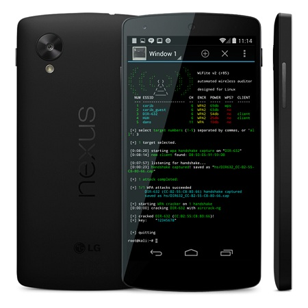 NetHunter supported devices - Nexus 5 - blackMORE Ops -1