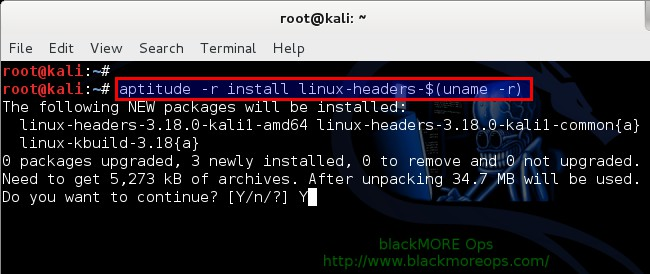 Kali Linux 1.1.0 kernel 3.18 - Install proprietary NVIDIA driver - NVIDIA Accelerated Linux Graphics Driver - blackMORE Ops - 2