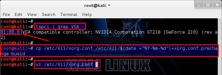 Kali Linux 1.1.0 kernel 3.18 - Install proprietary NVIDIA driver - NVIDIA Accelerated Linux Graphics Driver - blackMORE Ops - 9