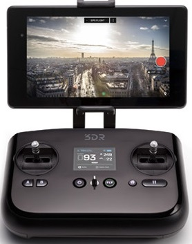 3D Robotics reveals its new 3DR Solo Quadcopter running on Linux - Black Controller - blackMORE Ops - 2