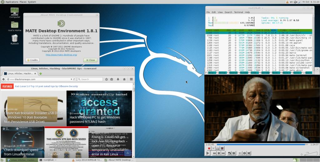 Install MATE Desktop in Kali Linux 2.x (Kali Sana) - blackMORE Ops -2