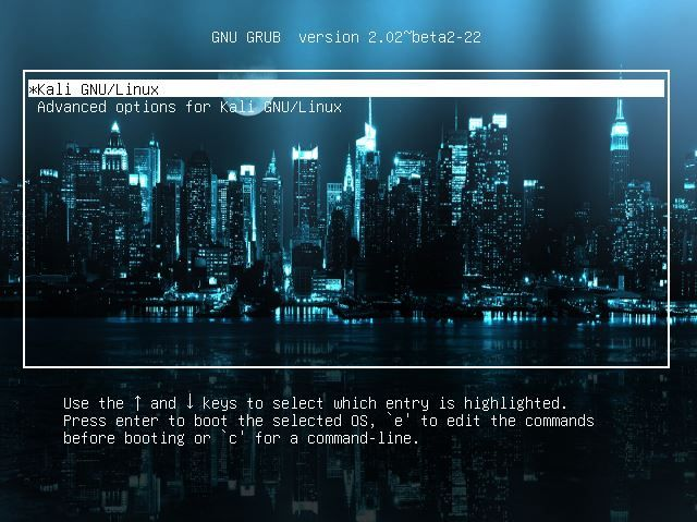 Change GRUB background in Kali Linux - blackMORE OPs -9